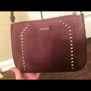 Guess maroon crossbody bag